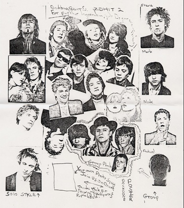 Poster from the Heaven Knows/Juvenile Wrecks single 1979